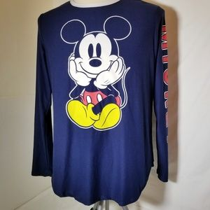Disney Mickey Mouse Shirt Long Sleeve XL
